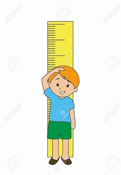 Clipart Measuring Height Boy Tall Grow Clip