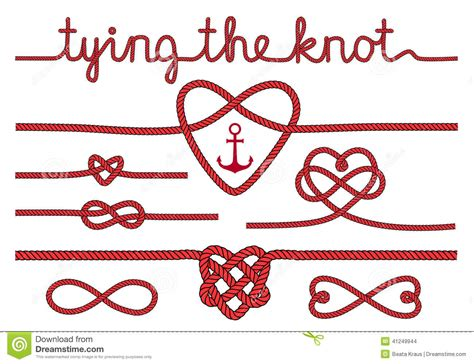 wedding knot rope hearts and knots vector set stock vector image 41249944
