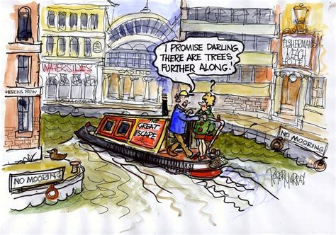 Cartoon Canal Boats by Roger Murray Cartoons