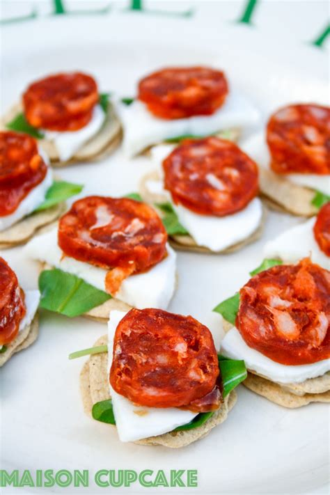 cuisine canapé chorizo canapes recipe with mozzarella and rocket recipe