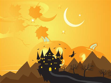 Cute Cartoon Wallpaper Backgrounds Halloween Holiday Powerpoint Templates Hq Free Download 10143 Powerpointhintergrund