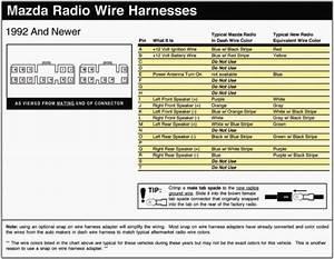 2001 Mazda Protege Stereo Wiring Diagram