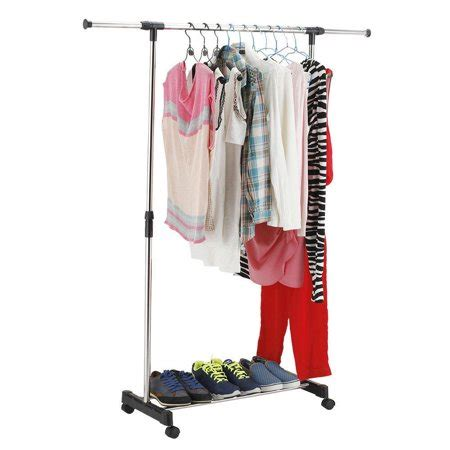 clothes hanging rack walmart ktaxon portable rolling clothes rack hanging garment bar