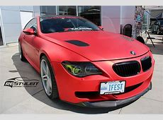 BMW 645i Matte Red Chrome Full Body wrap Vehicle