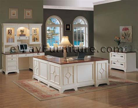 white executive office desk white office furniture collections distressed white
