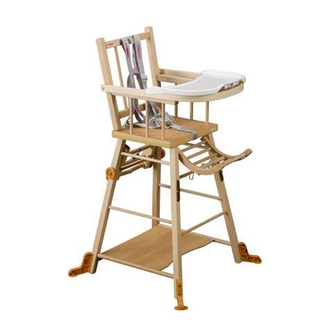 age chaise haute chaise haute transformable à barreaux vernis naturel repas