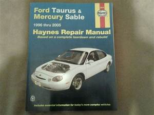 Find Ford Taurus  U0026 Mercury Sable Haynes Repair Manual 1996