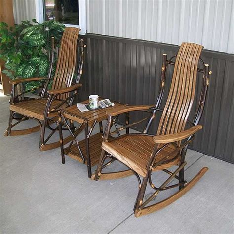 a l furniture co hickory front porch rocking chair set