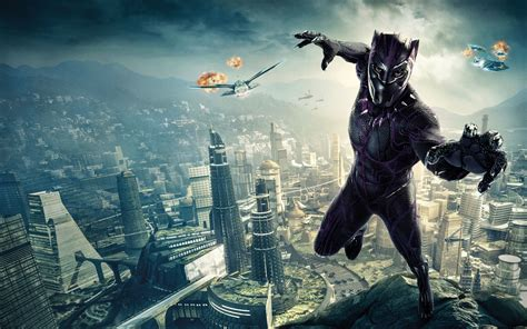 Black Panther Marvel Movie Hd Wallpaper  Download Free Hd