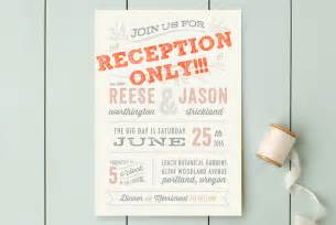 reception only wedding invitations that won 39 t make your guests feel excluded offbeat - Reception Only Wedding Invitations