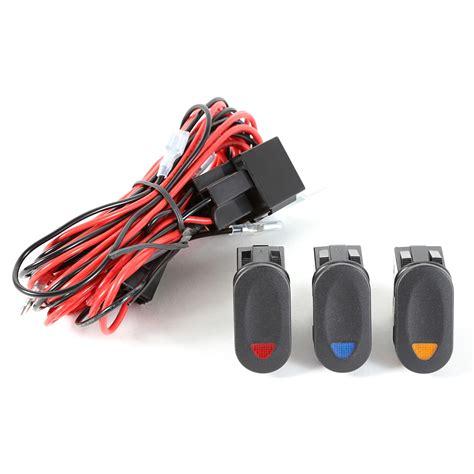 rugged ridge 15210 73 light installation wiring harness 3 lights 3 rocker switches
