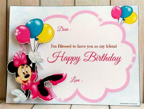 jual kartu ucapan selamat ulang  minnie baloon