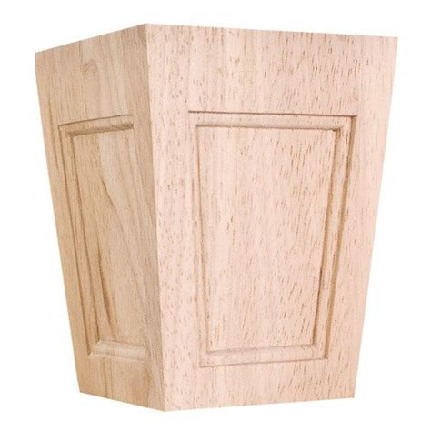 decorative wood cabinet feet hardware resources shop bfc40mp feet and legs wooden