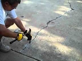 concrete repair in driveway