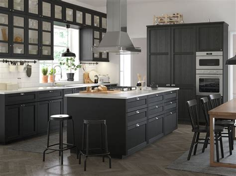 Ikea Armoire Cuisine by A Medium Sized Black And White Traditional Style Kitchen