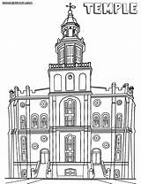 Temple Coloring Temple1 Building sketch template