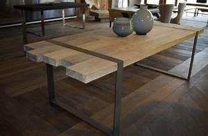 Table A Manger Industrielle : table a manger industrielle acier et bois ~ Teatrodelosmanantiales.com Idées de Décoration