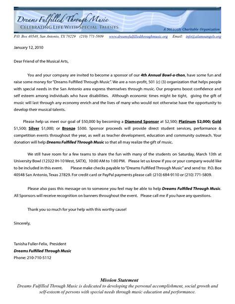 profit letters  donations