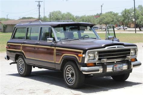 jeep burgundy interior purchase used 1987 jeep grand wagoneer base sport utility