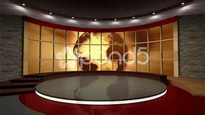 News TV Studio Set 39 - Virtual Green Screen Background ...
