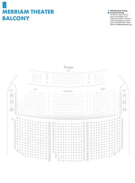 merriam theater seating charts kimmel center