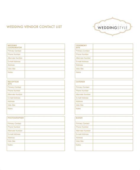 vendor list templates    premium templates