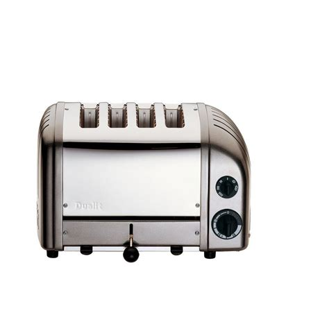 dualit 4 slice toaster dualit new 4 slice charcoal toaster 40421 the home depot