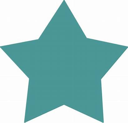 Teal Star Clip Clipart Twirl Important Clker