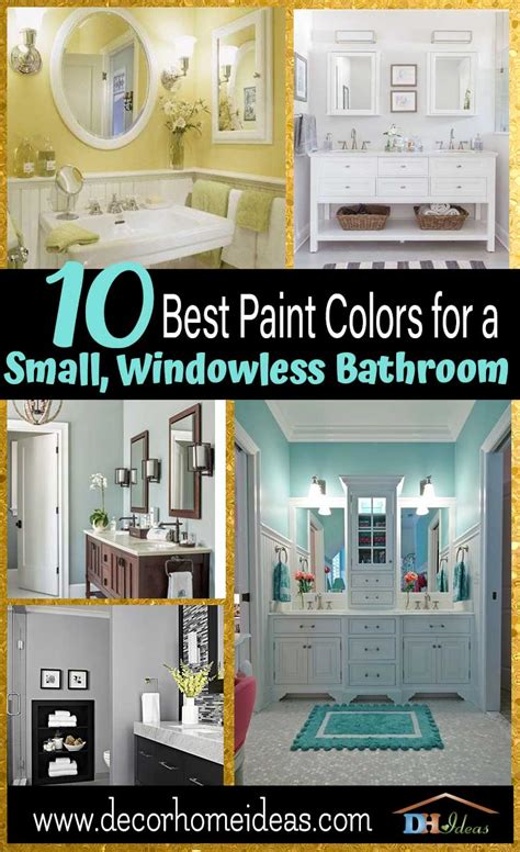 Best Color For Small Bathroom No Window by 10 Best Paint Colors For Small Bathroom With No Windows