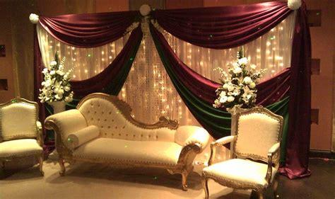 3 * 6m White and burgundy Silk Wedding Backdrop Wedding