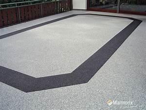 Marmorix steinteppich verlegebeispiele au enbereich for Steinteppich terrasse