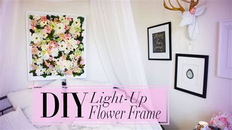 diy light  flower frame room decoration ann le youtube
