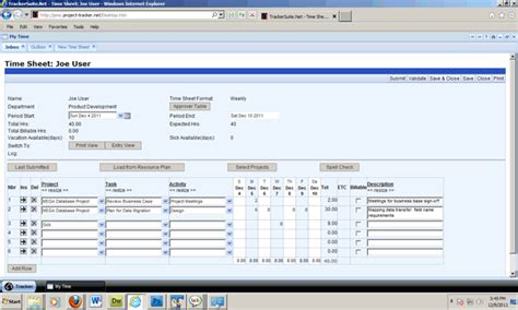 project office web time reporting integrated with project