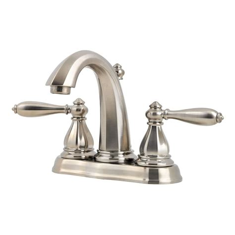 brushed nickel bathroom faucets canada pfister portola 4 inch centerset 2 handle high arc