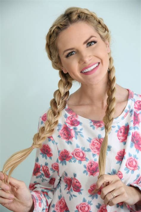 25  Amazing Braided Pigtail Styles for Girls   Elle Hairstyles