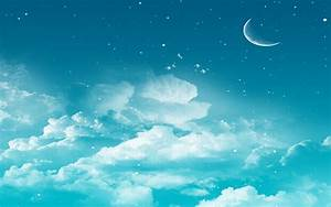 Moon Stars Sky HD #Wallpaper