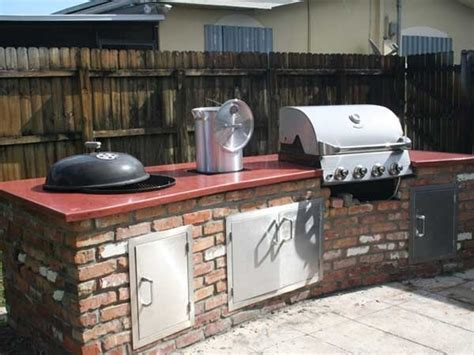built in weber grill concrete countertop http://www