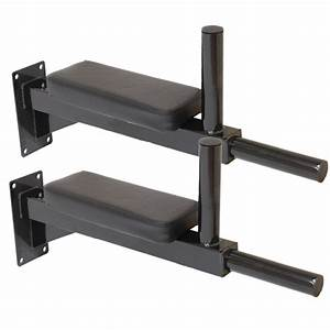 MAX FITNESS WALL MOUNTED DIP STATION KNEE RAISE BARS ABS