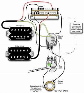 mod garage a flexible dual humbucker wiring scheme With les paul wiring for 2 wire and 4 wire humbuckers