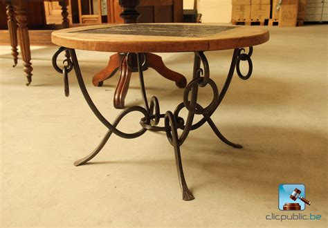 table salon fer forge table salon fer forg 233 224 vendre sur clicpublic be