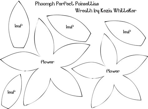 poinsettialeafpatterntemplate felt flower template