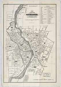 Map Of The City Of Rochester   From Cornells U0026 39  Maps   To