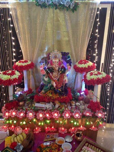 Ganapati Decoration Ideas - ganpati decoration ideas at home ganesh pooja decoration