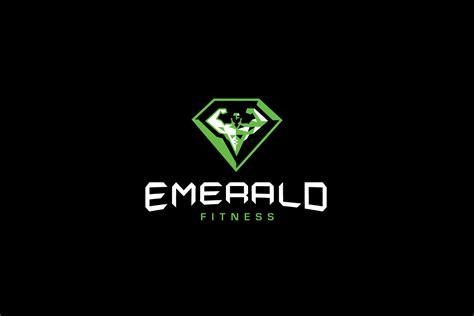 emerald fitness logo design logo cowboy