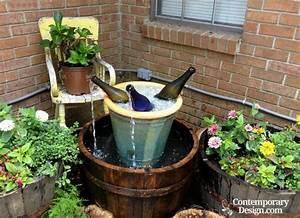 Homemade water fountain ideas