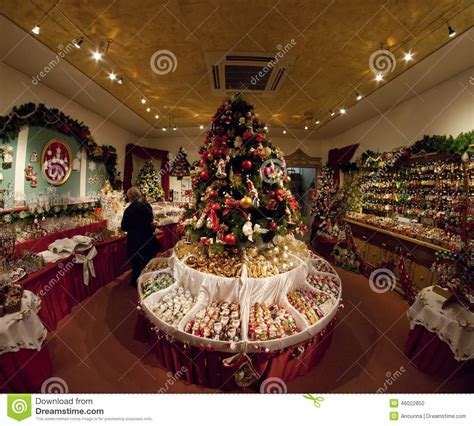 shop  christmas decorations editorial image image