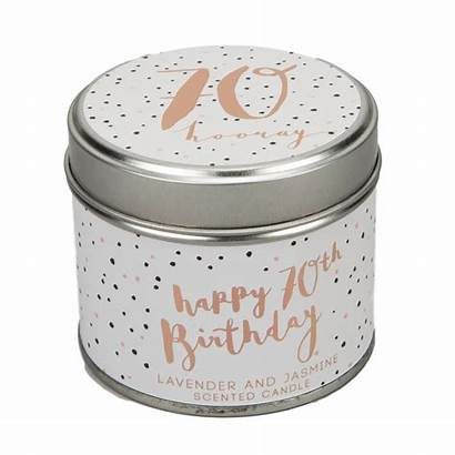 Tin Candle Birthday 70th Scented Luxe Gift