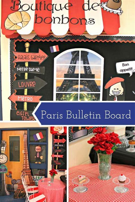 school theme paris france bulletin board classroom