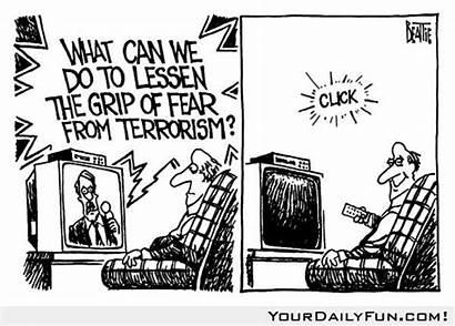 Terrorism Fear Lessen Grip Cartoon Beattie Bruce