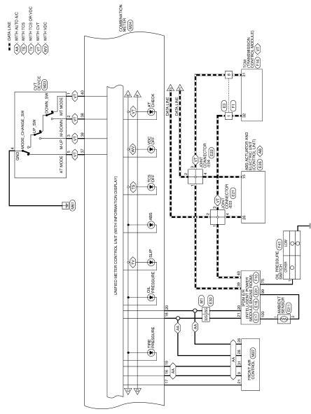 Nissan Altima Service Manual Combination Meter